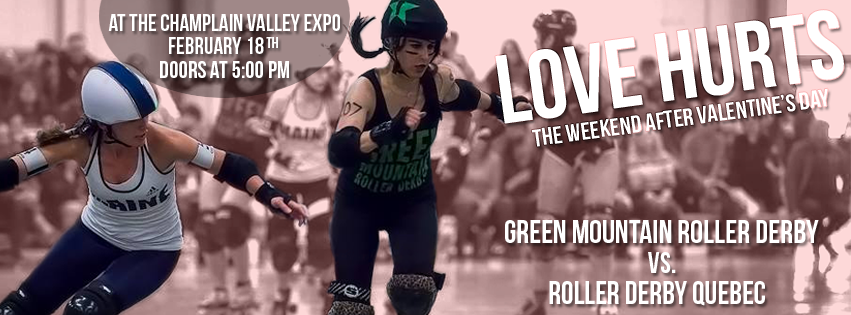 Green Mountain Roller Derby vs. Roller Derby Quebec on 2/18/17