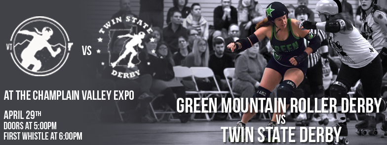 Green Mountain Roller Derby vs. Twin State Derby on 4/29/17